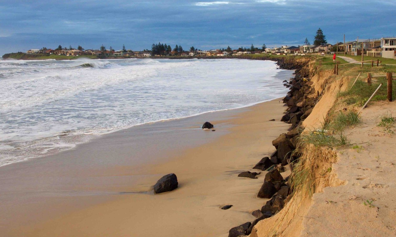 Warilla Beach after east cost low 2016 erosion